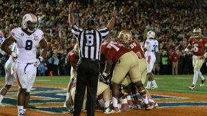 Winning Touchdown by Florida State in BCS Championship Victory Over Auburn. Photo by Harry How