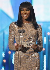 Naomi Campbell Was One Of The Presenters at the 2014 National Television Awards.