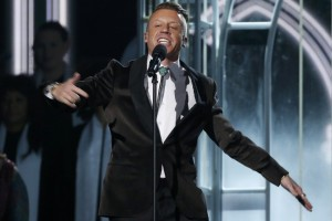 "Macklemore performs ""Same Love"" at the 56th annual Grammy Awards on CBS. (Mario Anzuoni/Reuters)"