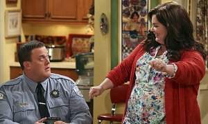 'Mike & Molly' was the top program on Monday. But ABC edged CBS for victory.