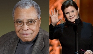 What an evening for CBS and 'The Big Bang Theory'. James Earl Jones and Carrie Fisher brought down the house