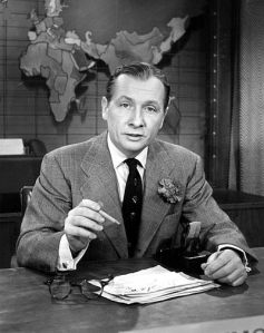 John Cameron Swayze was the anchor for NBC's 'Camel Newsreel Theatre' later named 'Camel News Caravan'. It was the first network evening newscast.