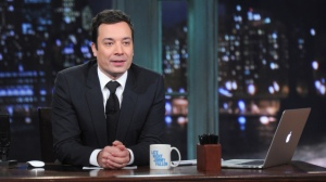 'Jimmy Fallon' on his last late night show before departing to host 'Tonight Show' across the hall in 10 days.