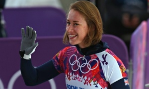 Queen Lizzy. Lizzy Yarnold, with her bob  Mervyn took the Gold in Sochi and BBC One was the winner in the Friday ratings.