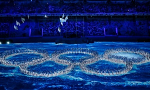 Closing Ceremonies of the Winter Olympics in Sochi, Russian Federation.