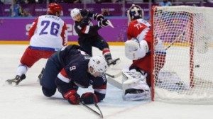 The Americans defeated the Russians in hockey, 3-2 in Sochi on Saturday.