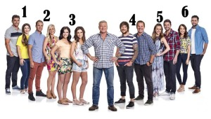 Here they are, Nine's 'The Block: Fans v Faves'. They are: #1 Chris and Pas (Queensland),#2 Kyal and Kara (NSW), #3 Lysandra and Alisa (South Australia), #4 Dale and Brad (Victoria), #5 Chantelle and Steve (Victoria) and #6 Jesse and Kenny (Queensland)