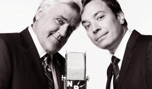 Jay Leno Passing Off The 'Tonight Show' Microphone To Jimmy Fallon