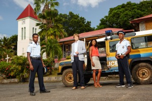BBC One's 'Death In Paradise' was #1 in the UK on Tuesday.