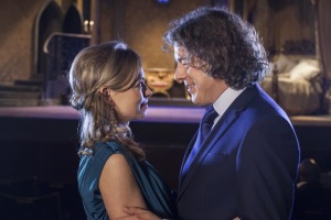 Alan Davies as Jonathan Creek with wife Polly (Sarah Alexander) was #1 on BBC One at 9P, Friday.