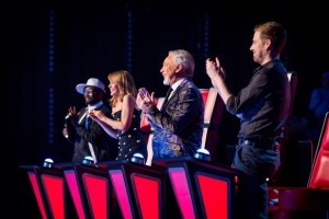 'The Voice UK' was #1 in the UK on Sunday.
