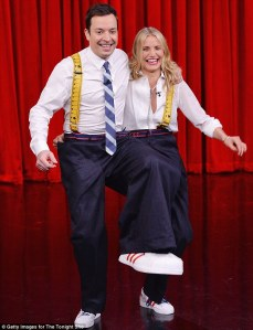 Jimmy Fallon and Cameron Diaz performed a hilarious three-legged dance together on 'The Tonight Show with Jimmy Fallon' on Friday