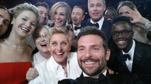 The selfie that crashed Twitter at the Oscars on Sunday.