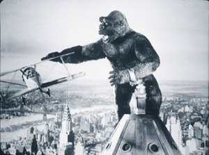 The 1933  film classic, 'King Kong' made its television debut on this date in 1956.