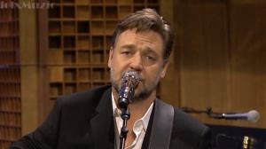 Russell Crowe singing Johnny Cash's classic, 'Folsom Prison Blues' on 'The Tonight Show with Jimmy Fallon' Thursday.