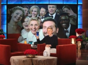 The Ellen DeGeneres Show on Monday after the Oscars was the biggest in its history.