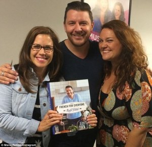'My Kitchen Rules' was #1 in Australia on Tuesday. Manu Fieldel and Pete Evans spent time spruiking their wares on the airwaves on Tuesday - the French chef posed for a photo with Chrissie Swan and Jane Hall after chatting to them about his new book.