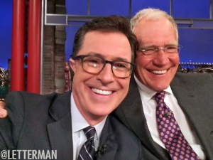 Colbert on Letterman for the first time since the big announcement.