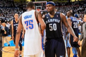 In one of the best NBA games of the year, Memphis defeated OKC in overtime and came in #3 behind WWE.