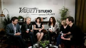 Minnie Driver alongside fellow Critics Choice Award nominees Billy Bob Thornton, Jim Parsons & Matt Bomer.