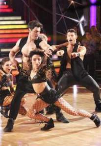 ABC's 'Dancing with the Stars' was #1 on Monday as Maks Chmerkovskiy and  Meryl Davis are shown.  Photo Credits: Adam Taylor/ABC