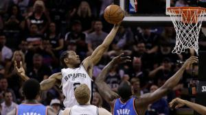 San Antonio Spurs Defeat The Oklahoma Thunder to go up 3 games to 2 in the Western Conference Finals. It was the #1 cable program on Thursday. Photo: The Associated Press