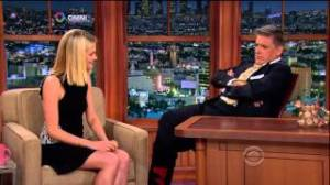 Rachael Taylor on CBS' 'Late Late Show with Craig Ferguson' on Friday which beat NBC's 'Seth Meyers'.