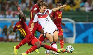 BBC One and the '2014 World Cup' featuring Germany's draw with Ghana was #1 in the UK on Saturday.