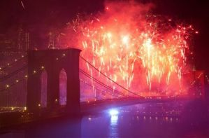 NBC with 'Macy's Fourth of July Fireworks Spectacular' was #1 on Friday. (Photo Credit: AP Photo/Mark Lennihan)