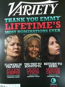 Variety's cover 06.05.14 featuring Emmy Nominated Minnie Driver in Sean Hanish's film 'Return To Zero'.
