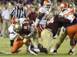 ABC #1 on Saturday with ACC Football, Florida State defeats Clemson the top program.