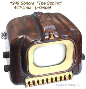 1949 French Sonora 441 line TV set