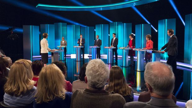 ITV finished #1 in the UK on Thursday as the evening was devoted to 'The ITV Leader's Debate'.