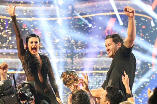 ABC #1 as 'Dancing  With  The Stars' top program with over 13.3 million viewers as Rumer Willis and Val Chmerkovskiy were crowned the 10th Anniversary Season Champions and winners of the Gold Mirrorball trophy, on the Season Finale, (Photo by Adam Taylor/ABC via Getty Images)
