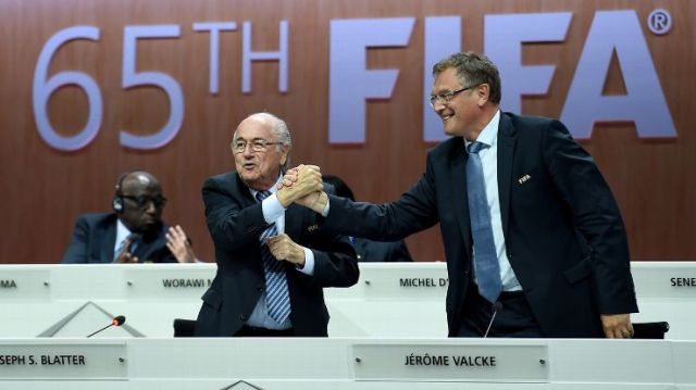 'Let's Go FIFA. Let's Go FIFA.' The President of all of us may be in trouble. http://espnfc.com/video/espnfc/video?id=2475086