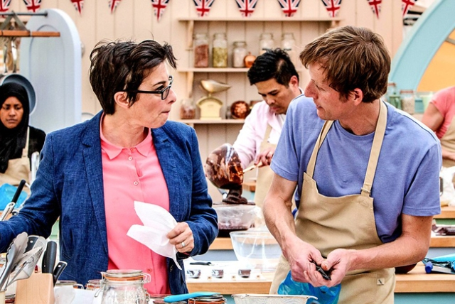 BBC One #1 in the UK Wednesday as 'The Great British Bake Off' top program.