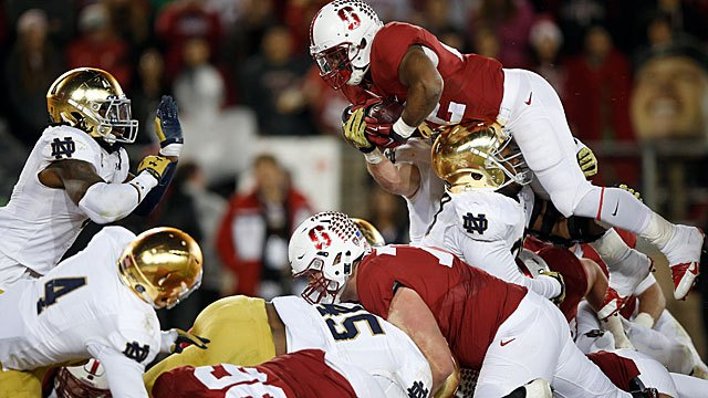 FOX #1 Saturday with 'Stanford defeating Notre Dame' top program.
