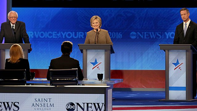 ABC #1 Saturday as 'New Hampshire:Democratic Presidential Candidate Debate' finished as the top broadcast network program