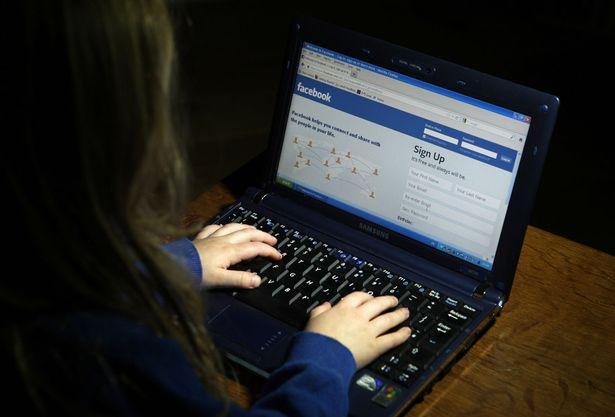 Facebook-on-a-computer