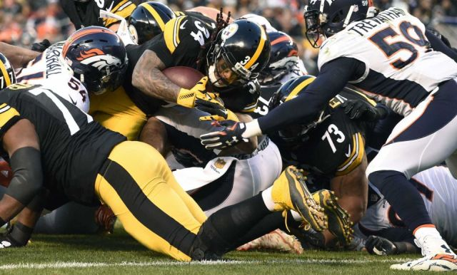 NBC #1 Sunday but CBS' 'Denver vs Pittsburgh' overrun finished as the top program with over 23 million viewers (Credit: AP / Don Wright)