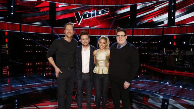 NBC #1 Tuesday as 'The Voice' was top program with over 12 million viewers.