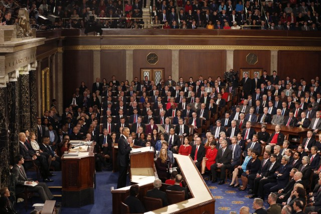 '2016 State of the Uniion Address To Congress' brought in 18.1 million viewers on broadcast networks and an additional 9.486 million on cable networks. For the complete address, go to: https://medium.com/@WhiteHouse/president-obama-s-2016-state-of-the-union-address-7c06300f9726#.mfffjcsib