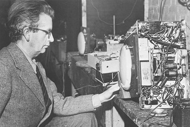 John Logie Baird was responsible for the first linear broadcast in 1926.