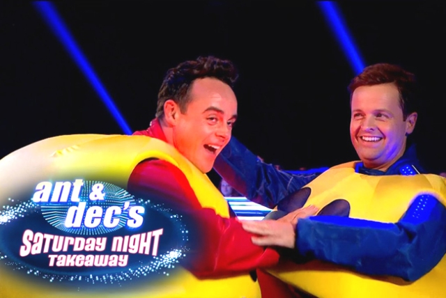 ITV #1 Saturday in the UK as 'Ant & Dec' were back.