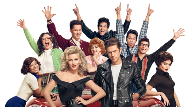 GREASE: LIVE: (L-R): Keke Palmer, Kether Donohue, Julianne Hough, Andrew Call, Carly Rae Jespen, Carlos PenaVega  Aaron Tveit, David Del Rio, Jordan Fisher and Vanessa Hudgens in GREASE: LIVE . It was the word on Sunday.