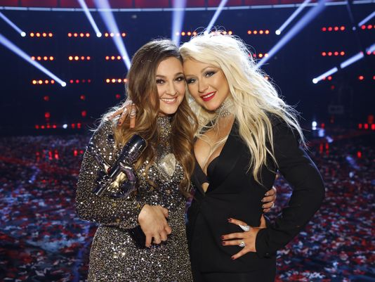 NBC #1 Tuesday as 'The Voice' beats 'Dancing with the Stars' finale as top program.