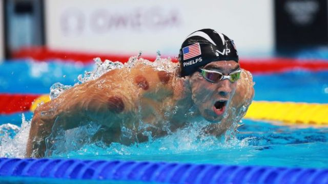 NBC #1 Monday as 'Rio 2016 Olympics top program. Mandatory Credit: Photo by Phil Hillyard/Newspix/REX/Shutterstock (5825187b) Swimmer Michael Phelps of the United States of America in action during the Mens 200m Butterfly semifinal at the Rio 2016 Olympic Games Rio 2016 Olympic Games, Swimming, Olympic Aquatics Stadium, Brazil - 08 Aug 2016