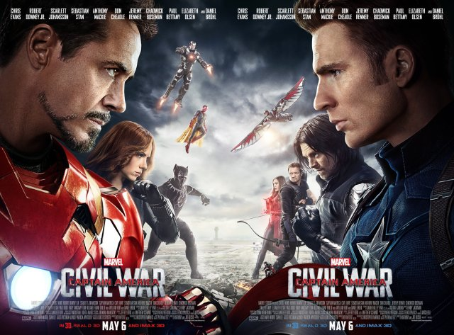 'Captain America:Civil War' #1 movie worldwide in 2016