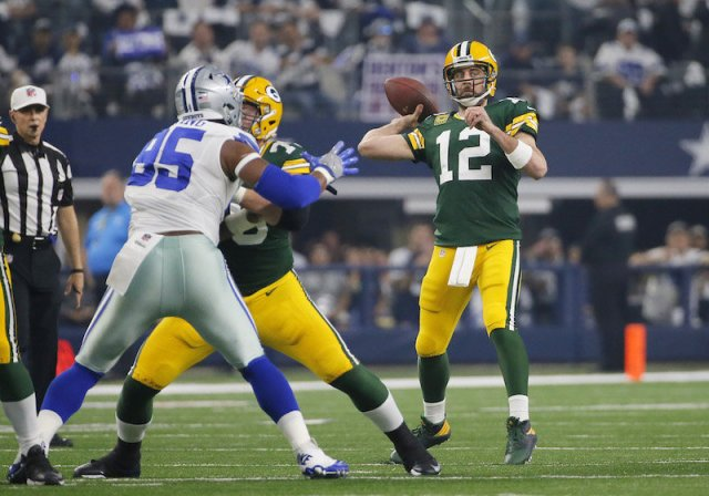 NBC #1 Sunday but FOX's 'NFL NFC Divisional Playoffs' featuring Green Bay Packers' win over the Dallas Cowboys in Dallas, 34-31.